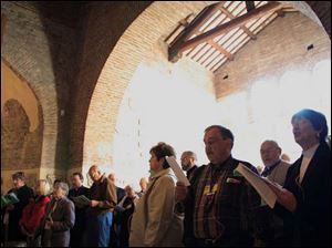Lutheran and Catholic pilgrims share common prayer at the Saint Callistus Catacombs in Rome.