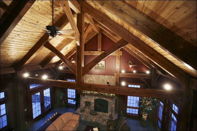Boomers drive sales of timber framed dwellings making it for Cathedral ceiling beams