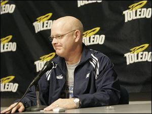 Mark Ehlen has the most wins in UT women's history with 236, but is on the way to a fifth straight losing season. (THE BLADE/JETTA FRASER)