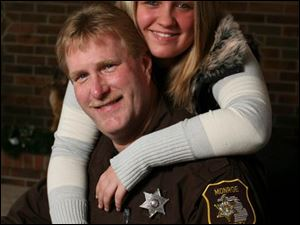 Danielle Cecil nominated Monroe County Sheriff's Deputy Damon Cecil for the 'America's Most Wanted'  All-Star award. 'I didn't nominate him because he is my dad. I nominated him because he is a true hero in my eyes,' she said.