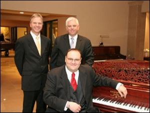 The Paul Keller trio, from left: Pete Siers, Paul Keller and Steve Richko.