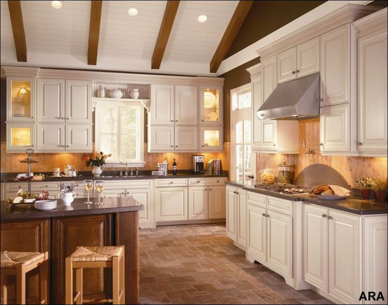 island is an easy way to add depth and color to any kitchen design