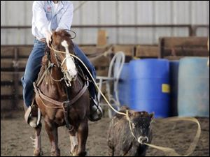 McCartney got involved in calf-roping because of his dad's involvement. He has won close to $30,000 in the past year.