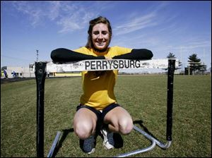 Perrysburg senior Courtney Weiss is a three-time Division I state qualifier. She placed eighth in the 300-meter hurdles last year.