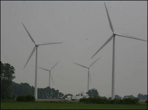 Bowling Green, which has four wind turbines, is seen as a