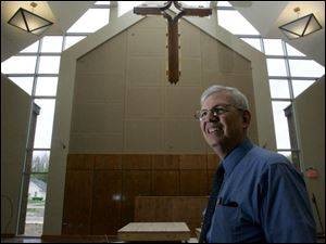 The Rev. Rich Ferne in the new sanctuary of Community of Christ Lutheran Church in Whitehouse.