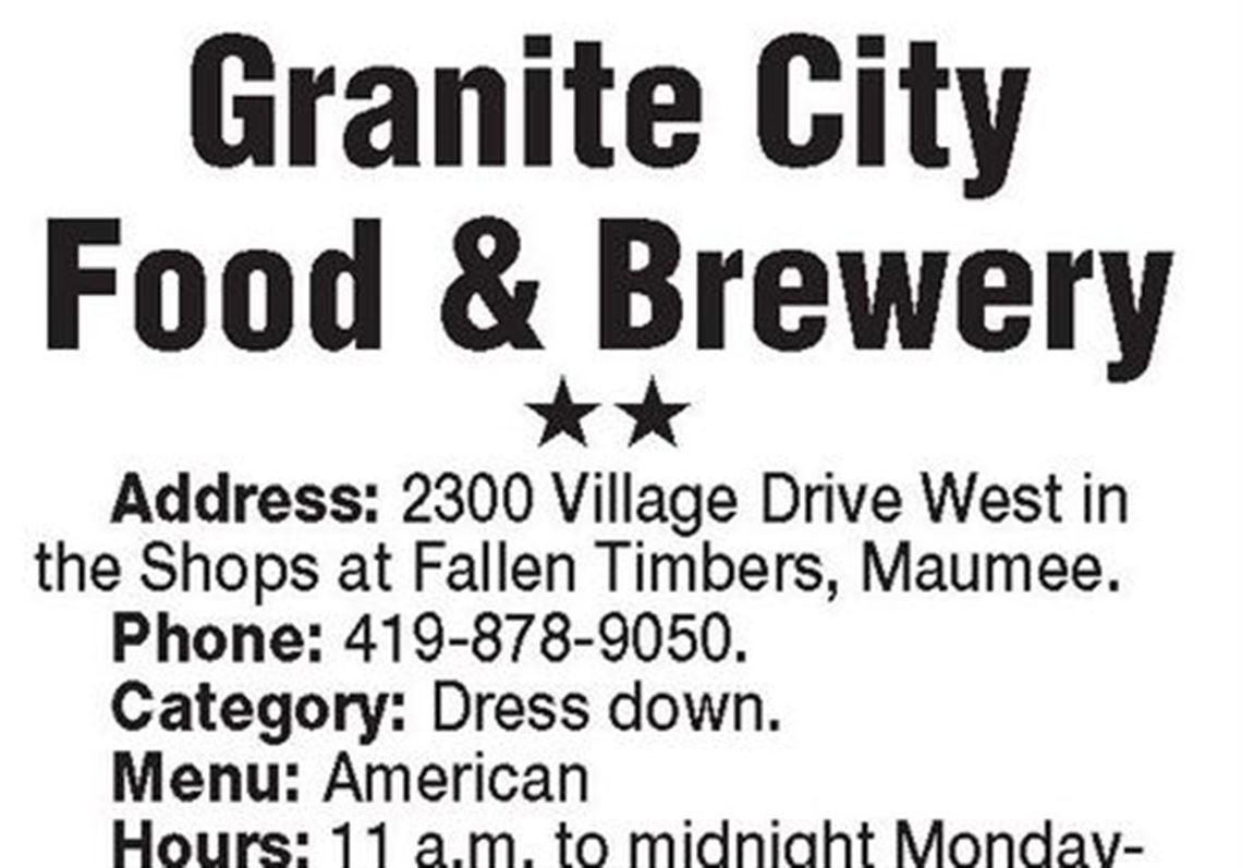 Restaurant Review Granite City Food Brewery Toledo Blade