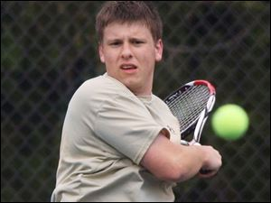 St. John ssenior Eric North won the City LeagueNo. 2 singles championship this year after being a part of the No. 2 doubles championship team for three straight years.