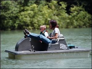 Pedal boats are among the attractions at Pearson Metropark in Oregon.
