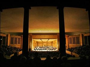 The Toledo Symphony performs at the Peristyle at the Toledo Museum of Art.