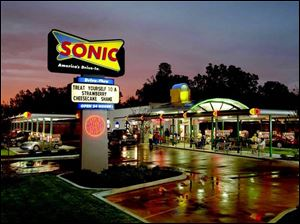 Sonic drive-ins, like this one in New York, still uses car-hop bays, even in colder climates. Lent