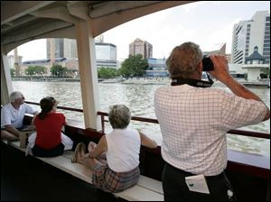 Taking in the sights during a two-hour tour of Toledo from a