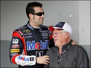 Despite competing in the top racing circuits in the world, Sam Hornish Jr. still relies on his father for advice. Hornish is competing in his first Sprint Cup Series season.