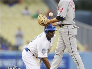 A frustrated Jamey Carroll walks away from the Dodgers  Juan