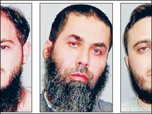 Mohammad Amawi, left, Marwan El-Hindi, and Wassim Maz loum face a sentence of up to life in prison on terror-related convictions. Amawi and El-Hindi still face other charges.