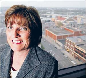 Sandy Gudorf, president of nonprofi t Downtown Dayton Inc., disputes the Census Bureau s figures. She says public employees should be counted in the number of downtown workers.