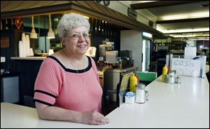 Mary Dingess worked periodically at the diner on Jefferson from the 1970s through the 1990s.