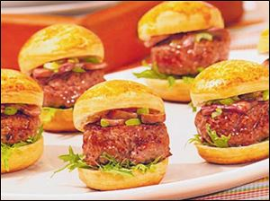 These sliders are two-bite treats that are simple to prepare.
