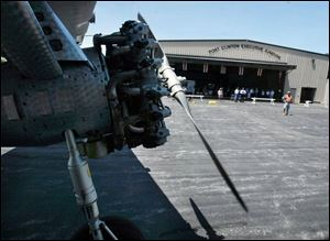 The EAA s Tri-Motor tours usually include the Port Clinton
