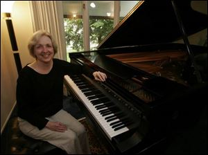 Frances Renzi of Sylvania is a nationally know keyboard artist.