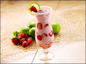 Strawberry Frozen Moogarita.
