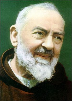 Who was Padre Pio, the saint who Dottie Zimmerman says is speaking through her?