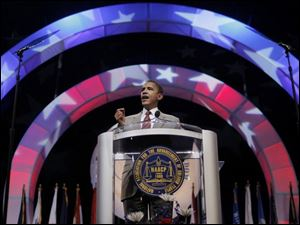 Illinois Sen. Barack Obama tells NAACP delegates in Cincinnati that poverty threatens gains made during the civil rights era.