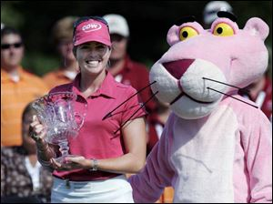 Paula Creamer and the Owens Corning Pink Panther had plenty to be excited about after Creamer s win Sunday. However, in a sign of