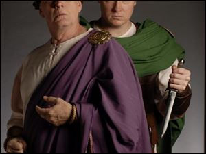Paul Hopper, left, and Paul Molnar in Julius Caesar.