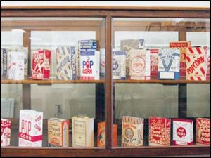 Popcorn bags and boxes are some of the items Jim Fentress began collecting 25 years ago.