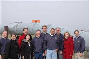 Posing during the Republicans  weekend trip to Alaska are, from left, Reps. Steve Scalise (La.), Gus Billirakis (Fla.), Adrian Smith