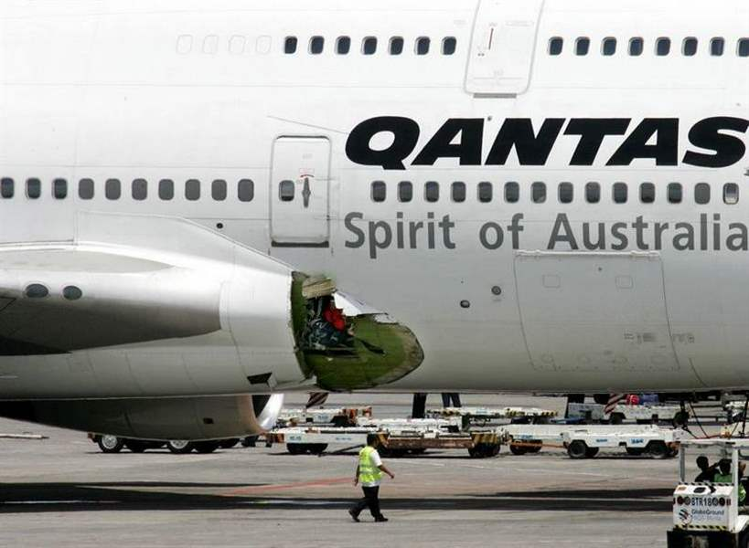 Qantas-jet-lands-in-Philippines-with-gaping-hole-in-fuselage