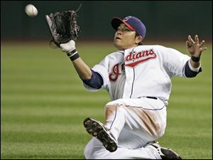 Cleveland Indians right fielder Shin-Soo Choo, from Korea,