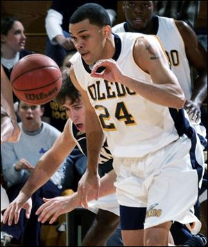 Sammy Villegas played basketball for the University of Toledo from the 2002-03 season through his senior year of 2005-06. The charge stems from his last two seasons with the Rockets.