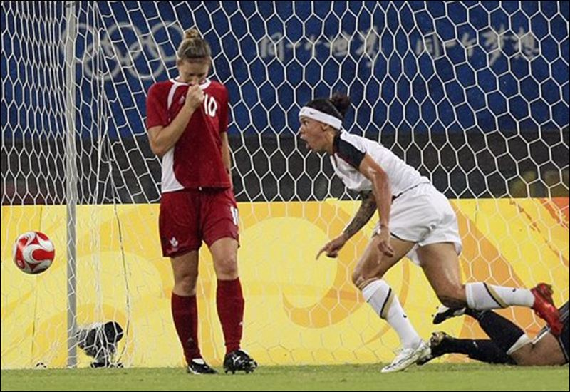 Extra time of the women s quarter final match between usa and canada