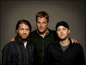 Mark Cowart, left, Michael W. Smith, and Ryan Smith are founders of Seaborne Pictures, a Christian movie company.