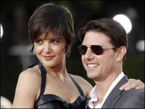 Katie Holmes and Tom Cruise attended the premiere of the movie Tropic Thunder in Los Angeles last month.