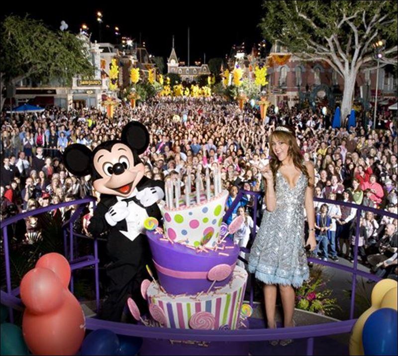 Miley Cyrus Celebrates Sweet 16 At Disneyland