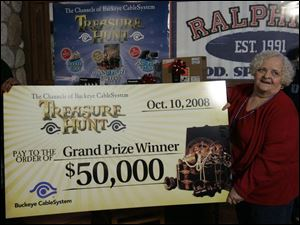 Carletta Huff, 75, said that she  wasn't even thinking of the money' while in the running for the Treasure Hunt prize.