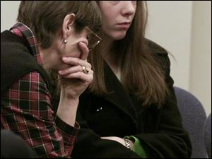 Natalie Nirdlinger was accompanied by her mother, Mary Nirdlinger, during a juvenile court appearance in 2002. Natalie was 16 when she left her baby in a trash bin in October, 2001. The baby survived and is now 7. Natalie, now 23, served five years of probation.