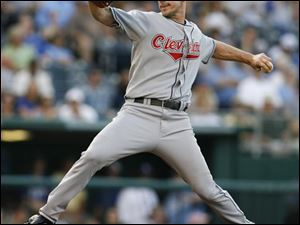 In this May 30, 2008 file photo, Cleveland Indians starting pitcher Cliff Lee throws during the first inning of a baseball game against the Kansas City Royals.