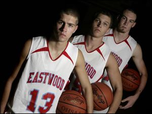 Eastwood has plenty of experience returning with, from left, seniors Jason Faykosh and Mark Schult and junior Clay Rolf. The Eagles were 15-6 last year and finished runner-up.
