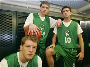 Ottawa Hills is the pick to win the TAAC with, from left, Kevin Nugent, Phillip Beans and Eliot Browarsky.