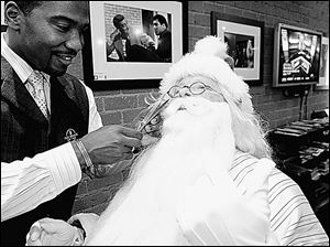 Santa Claus should ditch the sleigh and perhaps even ask Beverly Hills barber Craig Whitely for a trim before the  jolly old elf  heads off to Washington to ask Congress for financial relief.