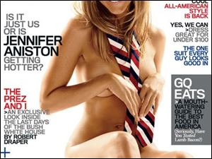 This image provided by GQ magazine shows actress Jennifer Aniston on the cover of the magazine's January 2009 issue.