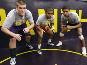 Defending NLL champion Maumee has plenty of experience returning. Among the leaders for the Panthers are, from left, Justin Rippke, Mike Warren and Mikkal Johnson.