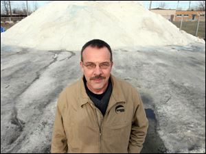 Just two weeks into winter, Jeffrey Gartz, owner of American Snow Removal Inc. and Perfect Sweep Inc., both in Toledo, already has used 20 percent of his supply of rock salt. He paid almost $1 million up front to secure 10,000 tons of rock salt. 'I've been in this business 30 years, and I've never seen anything like this,' Mr. Gartz said.