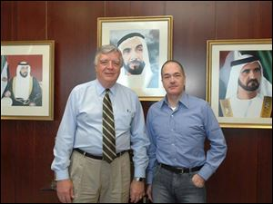 Allan Block, chairman of Block Communications Inc., parent company of The Blade, visits Zayed University in the United
