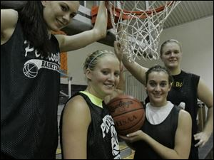Pettisville seniors, from left, Haley Nofziger, Alexa Short, Katie Weber and Brittany Weber have helped their team build a 7-0 record.