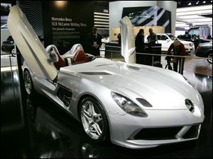 The Mercedes-Benz McLaren SLR Stirling Moss takes the honor of most expensive car at the auto show with a price of $1.2 million. It s only available to past McLaren owners and must be delivered in Europe
